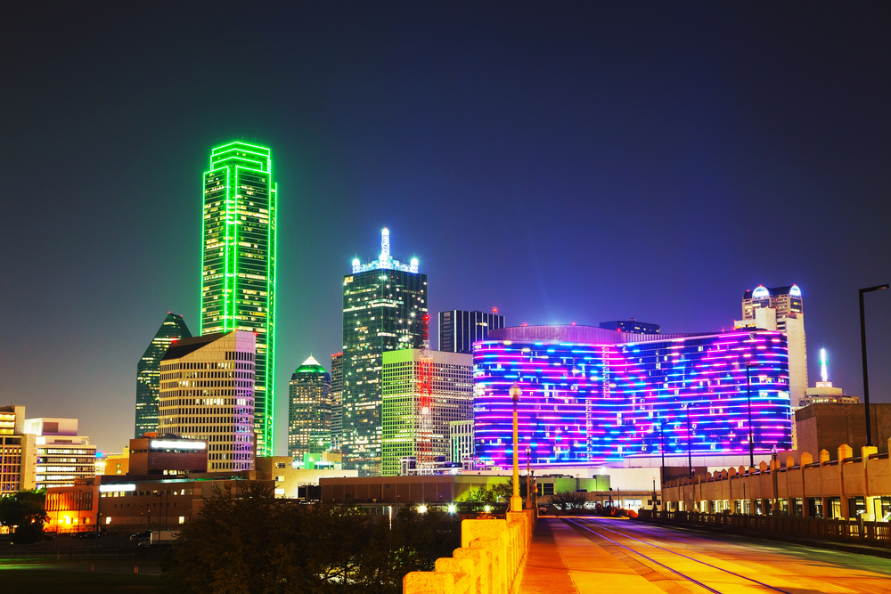 Dallas, Texas cityscape at the night time